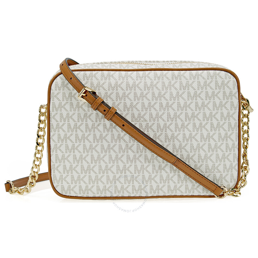 Michael Kors Jet Set Large Crossbody Vanilla