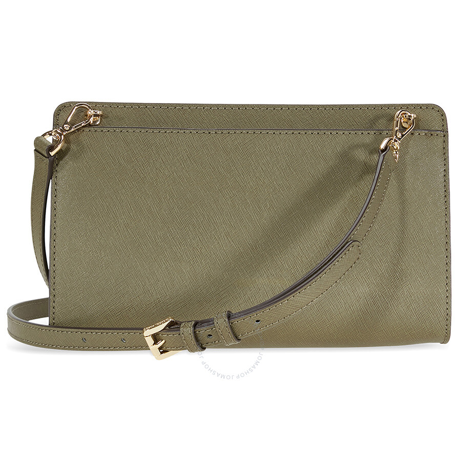 Michael Kors Crossbody Laukut : Michael kors jet set large crossbody clutch olive