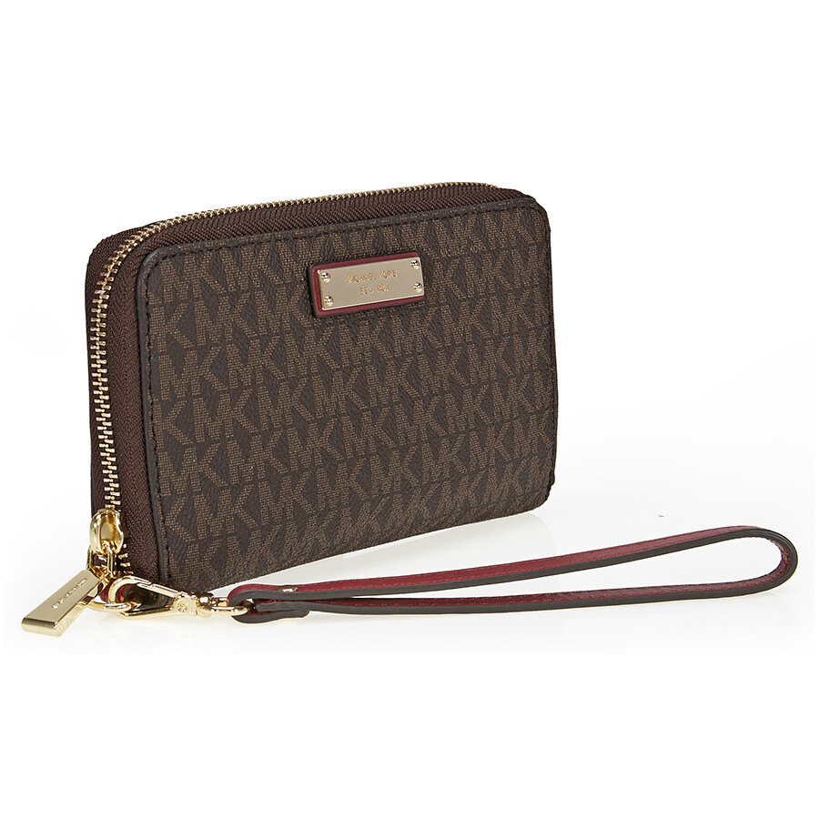 cf9d6d45ee02 Michael Kors Jet Set Large Multifunction Phone Case - Brown and Mulberry  Item No. 32S7GTTE2B-243
