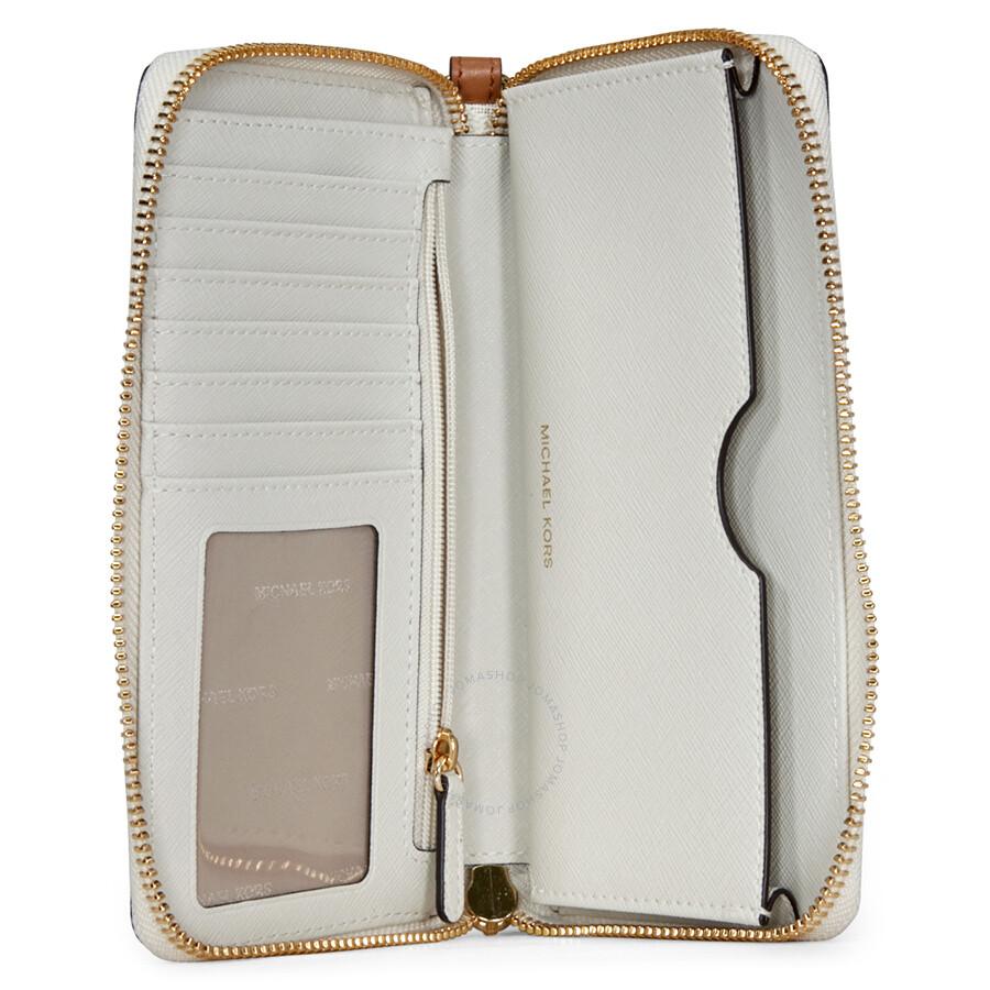 fa6472b4c9af9b Michael Kors Jet Set Large Multifunction Phone Case - Vanilla - Jet ...