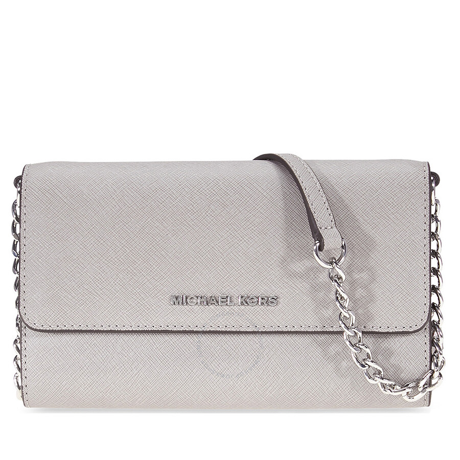 f46cf94bcfd1 Michael Kors Jet Set Large Phone Crossbody - Pearl Grey Item No.  MK32T4STVC3L-081