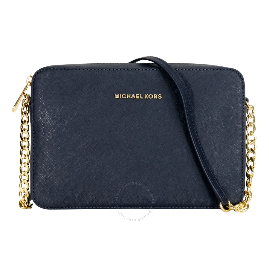 Jet Set Large Saffiano Leather Crossbody   Admiral by Michael Kors