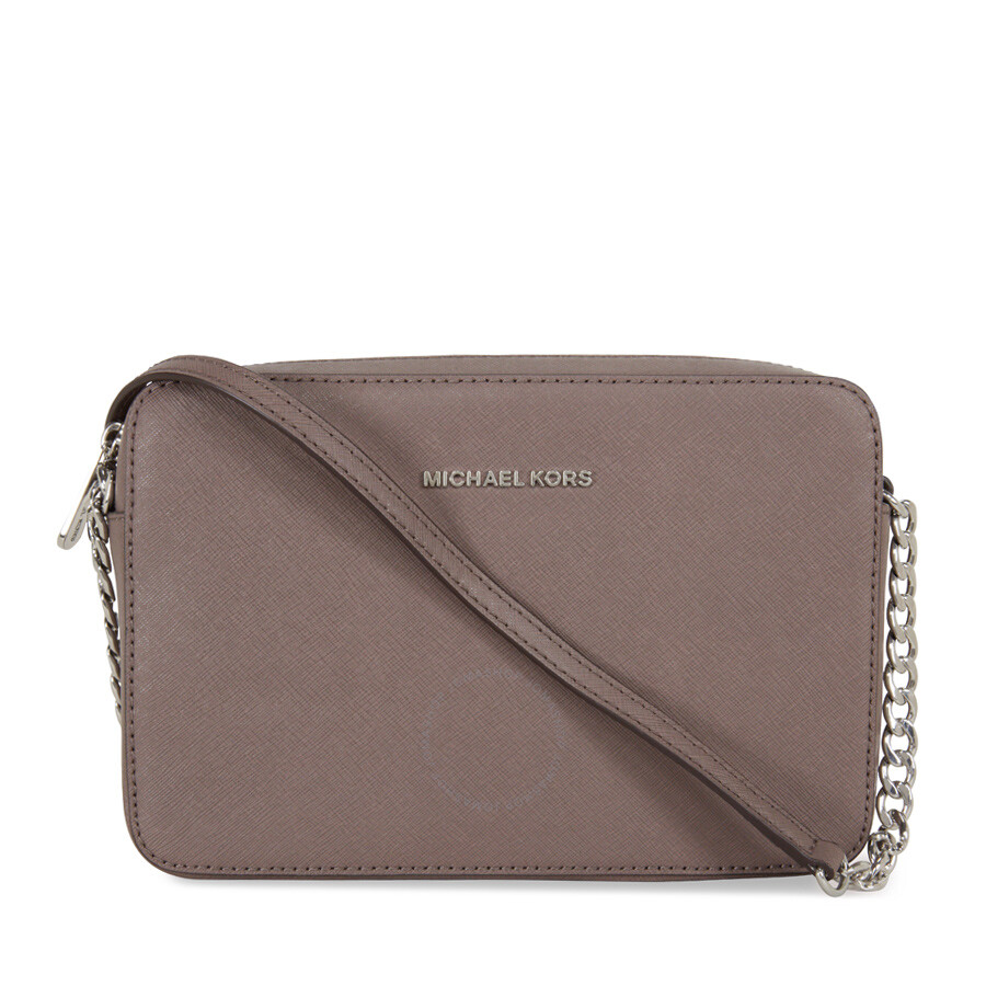 michael kors jet set large saffiano leather crossbody cinder jet rh jomashop com