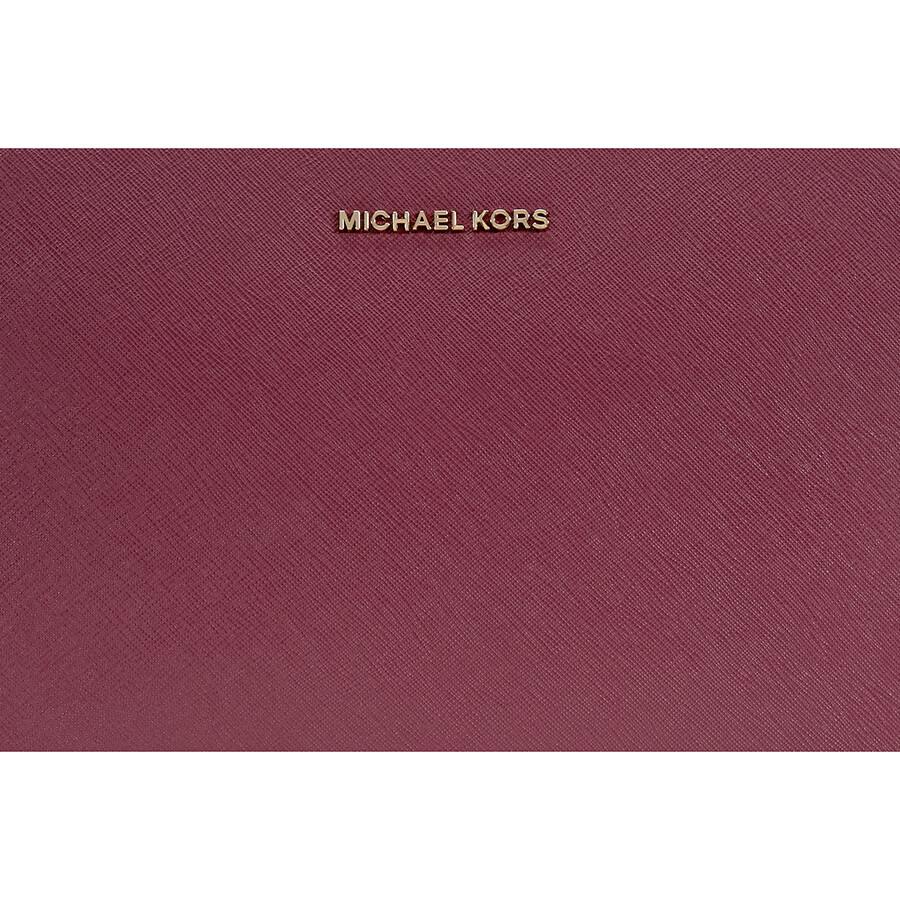 f16a5a370302 Michael Kors Jet Set Large Saffiano Leather Crossbody - Mulberry ...