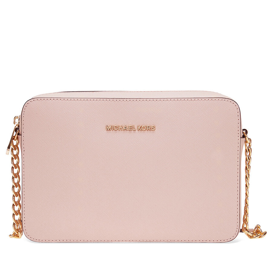 c5988a582132 Michael Kors Jet Set Large Saffiano Leather Crossbody - Soft Pink Item No.  MK32S4GTVC3L-187