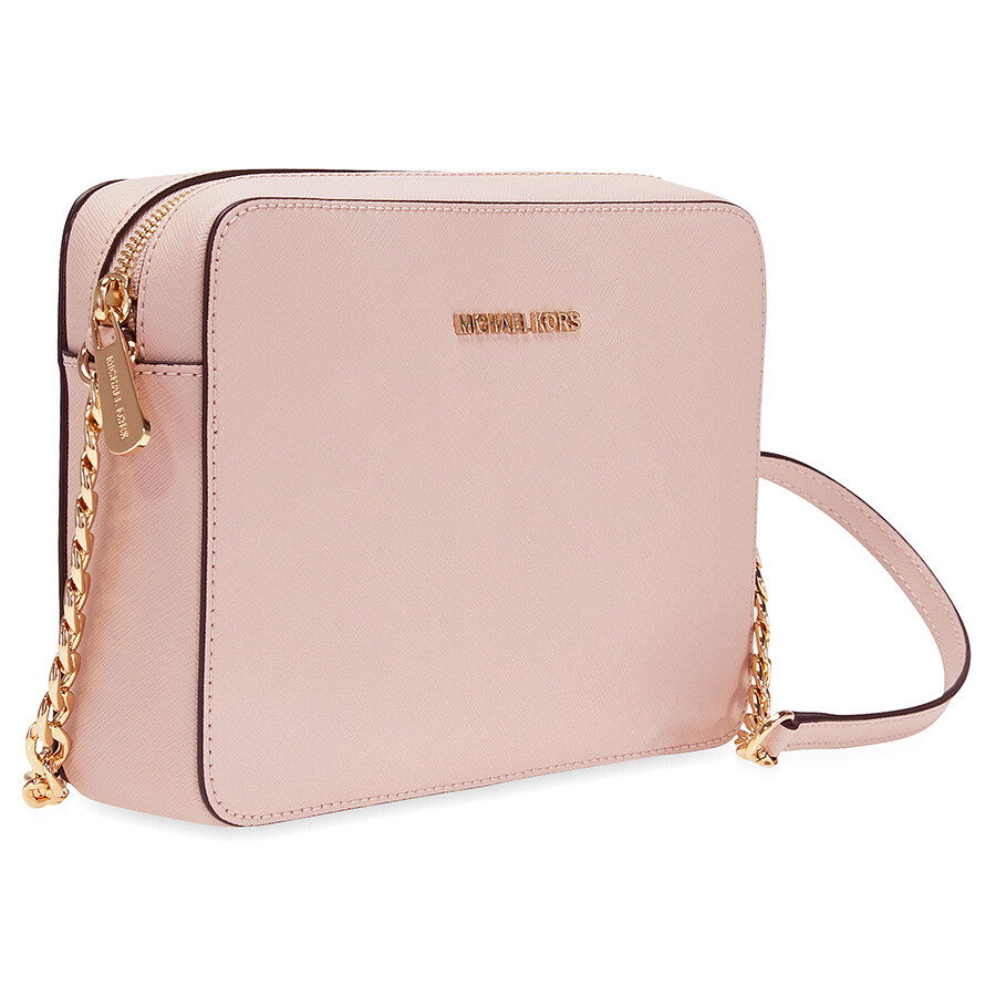 1065f0380705 Michael Kors Jet Set Large Saffiano Leather Crossbody - Soft Pink ...