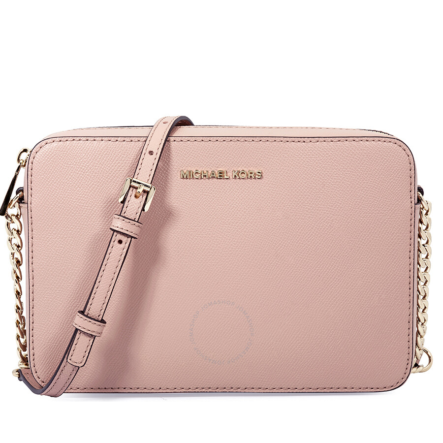 c68c028c9783 Michael Kors Jet Set Large Saffiano Leather Crossbody- Fawn Item No.  32T8TF5C4L-133