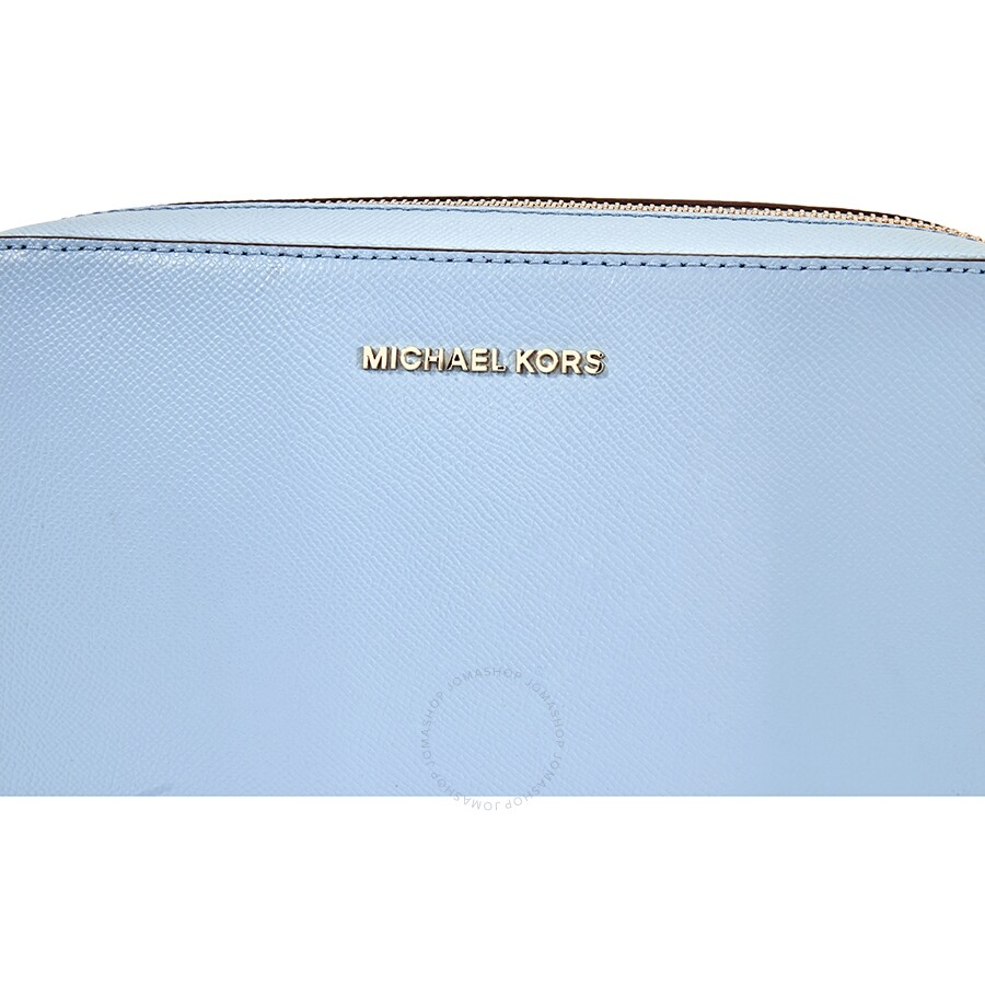 061c24c597f6 Michael Kors Jet Set Large Saffiano Leather Crossbody- Powder Blue ...