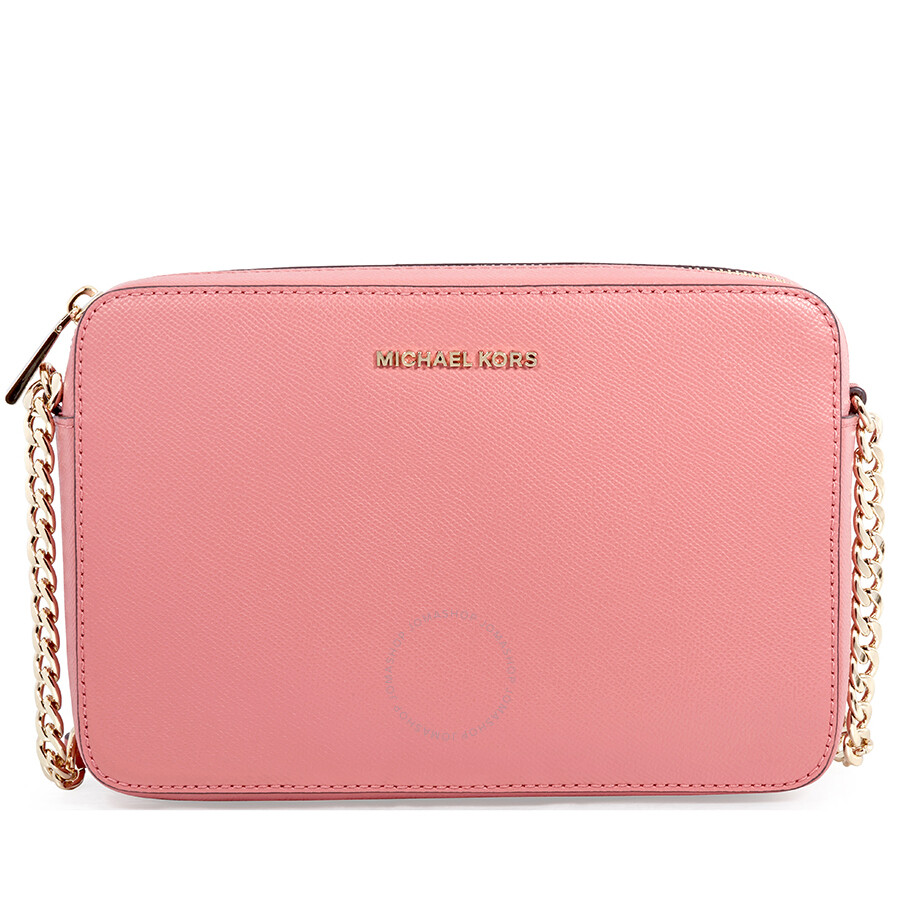 56ac2201638b Michael Kors Jet Set Large Saffiano Leather Crossbody- Rose Item No.  32T8TF5C4L-622