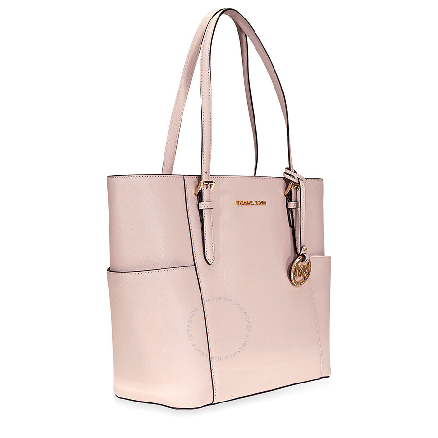 f92e20a77699 Michael Kors Jet Set Large Saffiano Leather Tote- Soft Pink Item No.  30T6GTVT3L-187