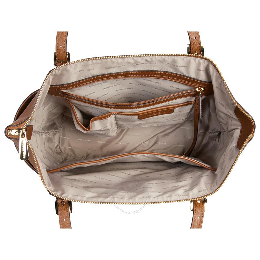 michael kors jet set top zip saffiano leather tote in. Black Bedroom Furniture Sets. Home Design Ideas
