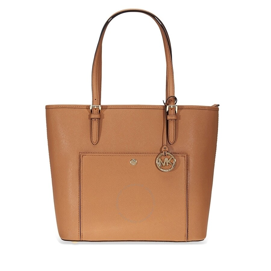 cc5bac426f7895 Michael Kors Jet Set Large Travel Saffiano Leather Tote - Acorn Item No.  30S6GTTT3L-532