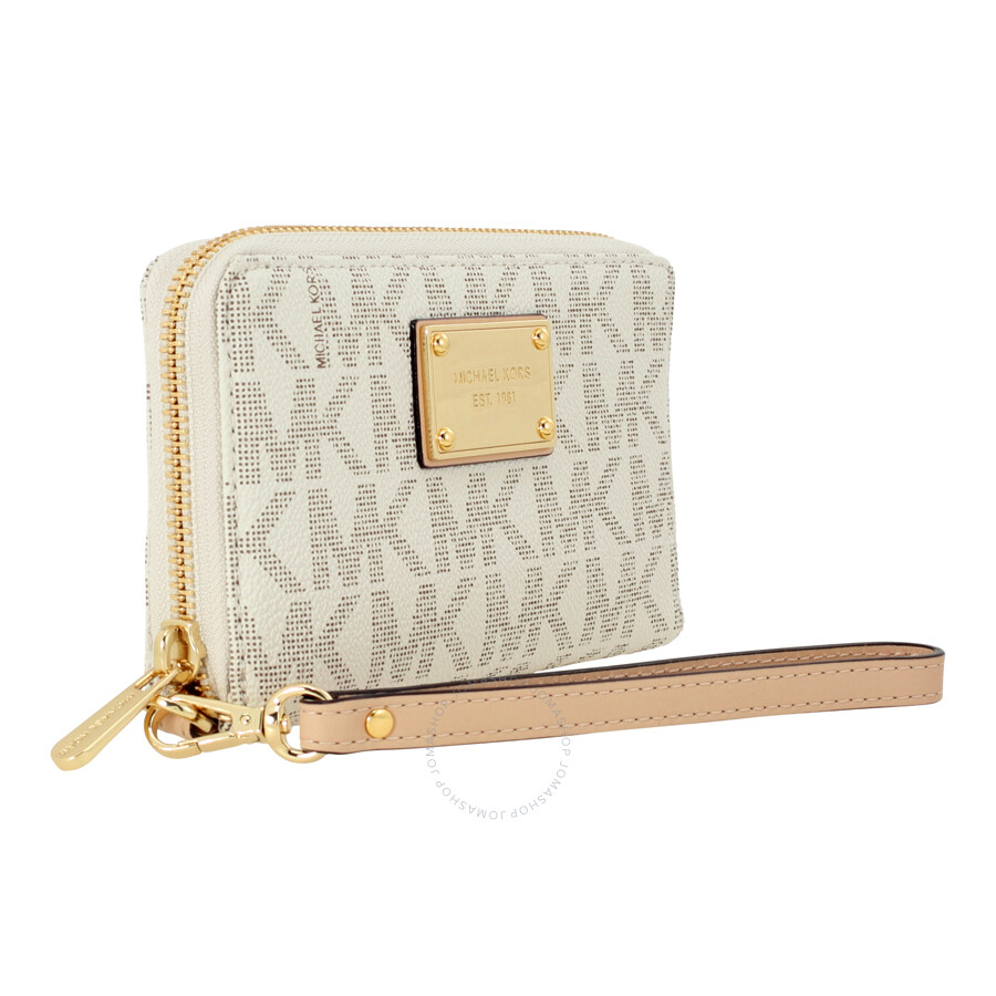 29abc37f49eecb Buy michael kors white wristlet > OFF64% Discounted