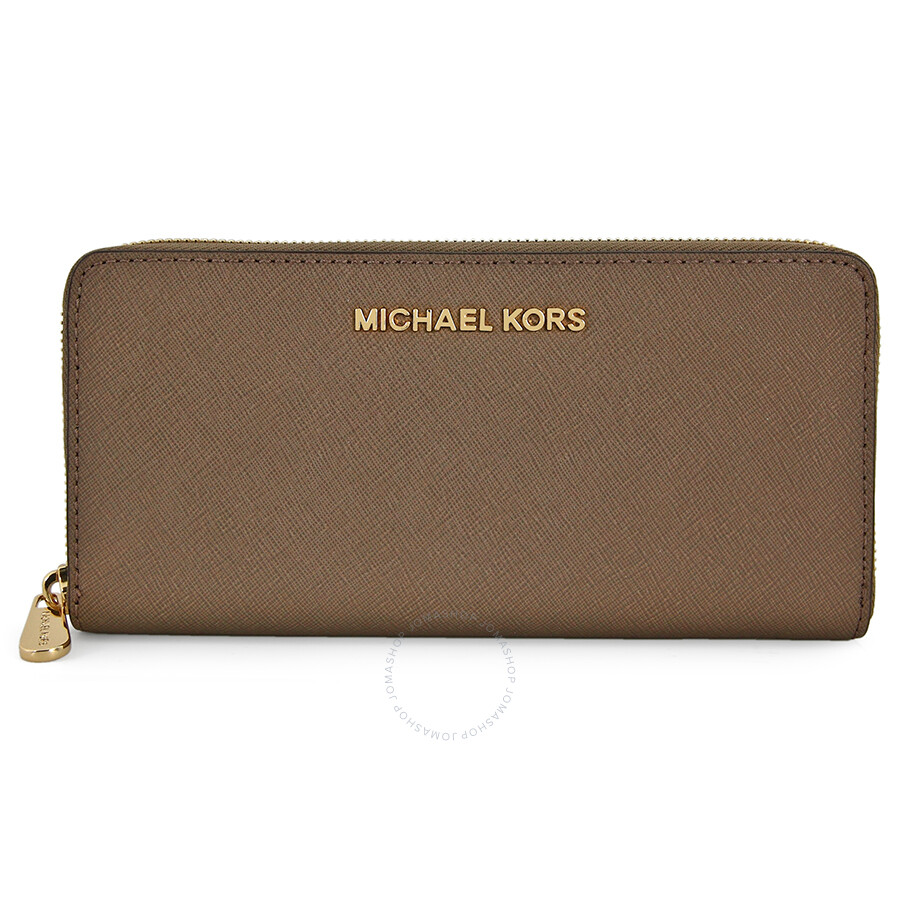 250ed07bf1d9 Michael Kors Jet Set Leather Continental Travel Wallet - Dark Dune Item No.  32S3GTVE3L-177