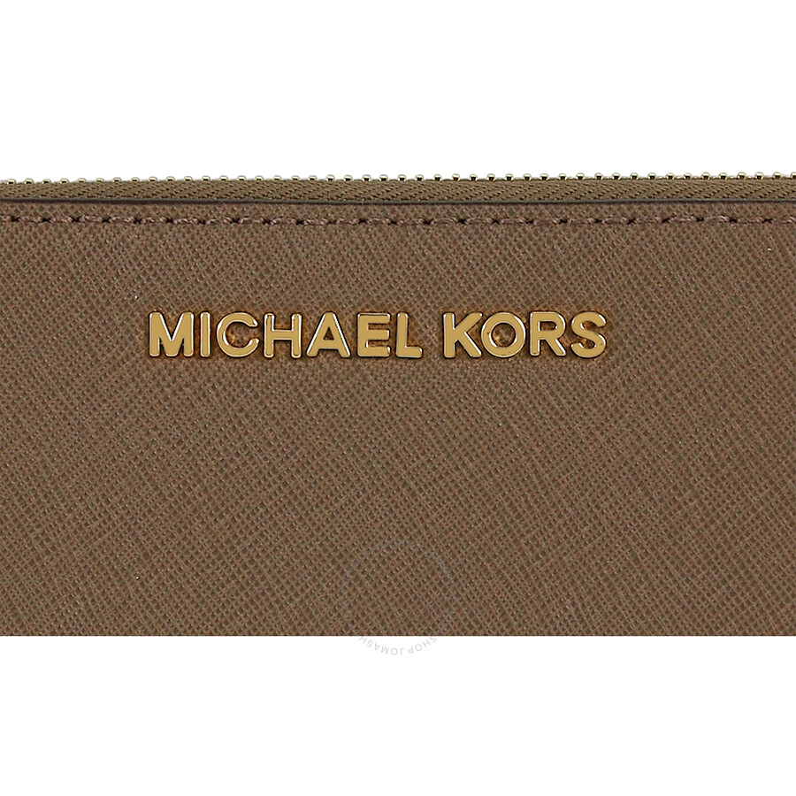 be6a7a5b0678 Michael Kors Jet Set Leather Continental Travel Wallet - Dark Dune ...
