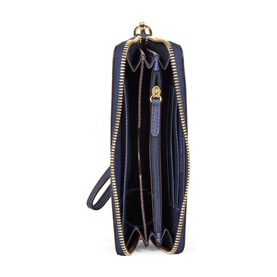 bac156b0d04f Michael Kors Jet Set Leather Multi-Function Phone Case - Navy - Jet ...