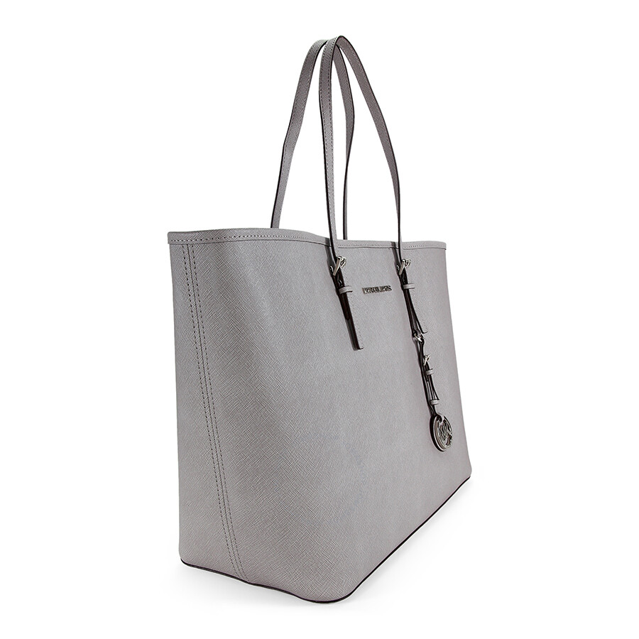 a2253dfd0c9f05 ... norway michael kors jet set medium saffiano leather travel tote pearl  grey 888fe 3b1ec