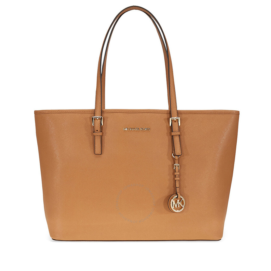 Michael Kors Jet Set Medium Travel Saffiano Leather Tote Acorn