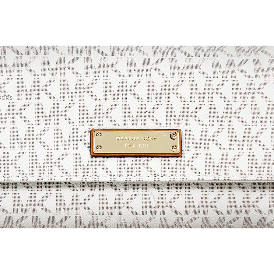 f61fac1f9c0d Michael Kors Jet Set PVC Checkbook Wallet - Vanilla - Jet Set ...