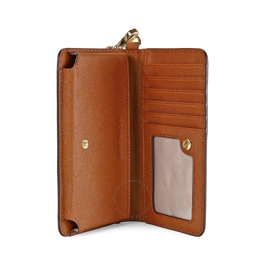 d1485647d26 Michael Kors Jet Set Saffiano Leather Slim Tech Wristlet - Brown ...