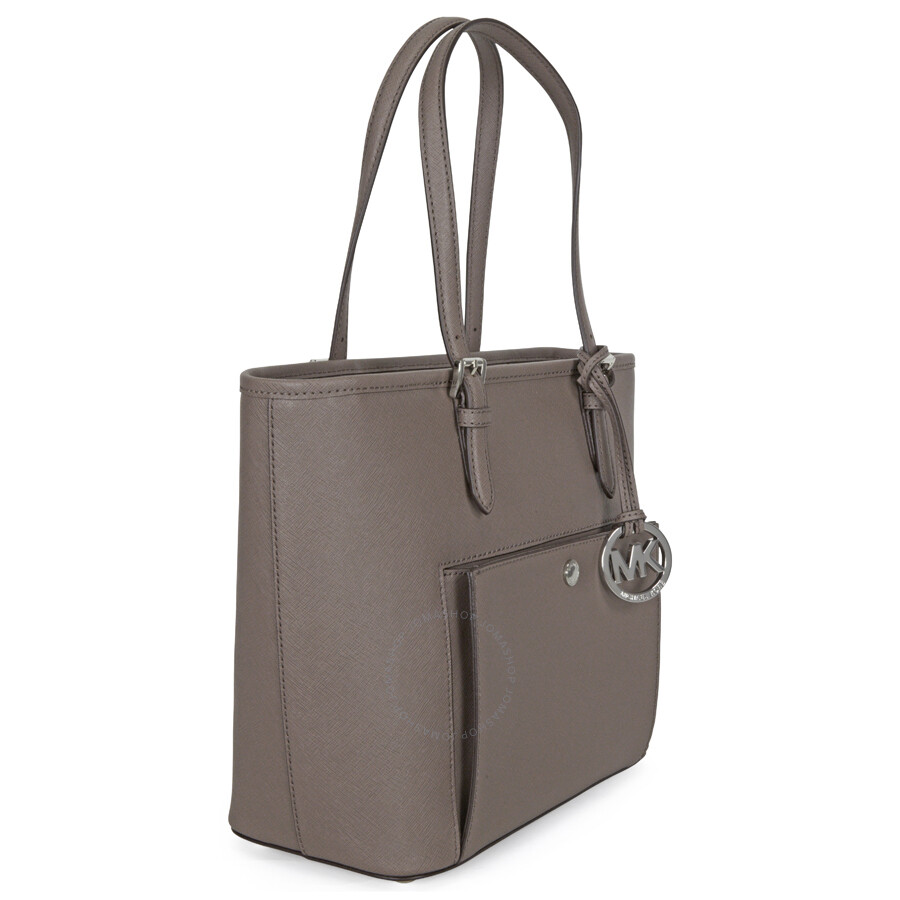 0a41a65523f2 Michael Kors Jet Set Saffiano Medium Top Zip Tote - Cinder - Jet Set ...