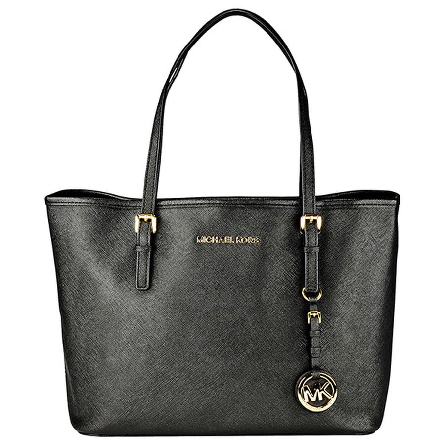 d0d33cb3b3b9 Michael Kors Jet Set Small Travel Tote Handbag - Black