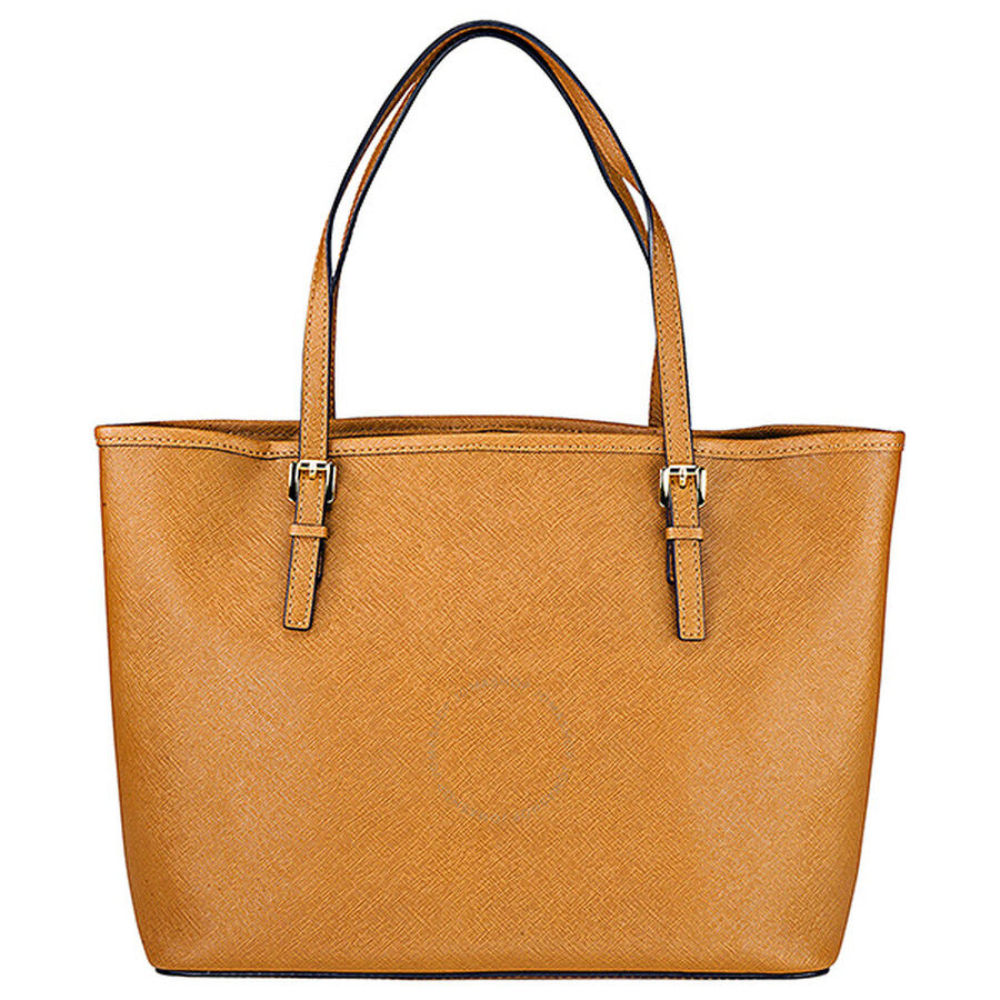 3fa7f86296a9 Michael Kors Jet Set Small Travel Tote Handbag in Luggage - Jet Set ...