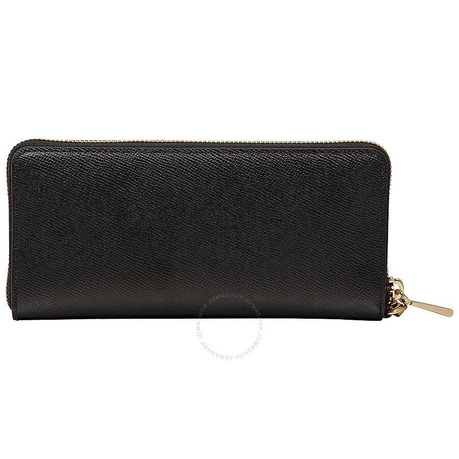 f34481031c7a Michael Kors Jet Set Travel Leather Continental Wallet - Black - Jet ...