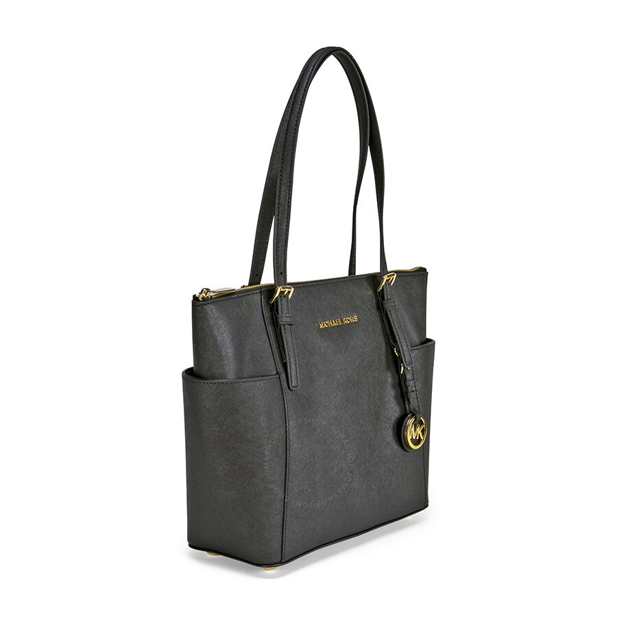 Michael Kors Laukkukoru : Michael kors jet set top zip saffiano leather medium tote