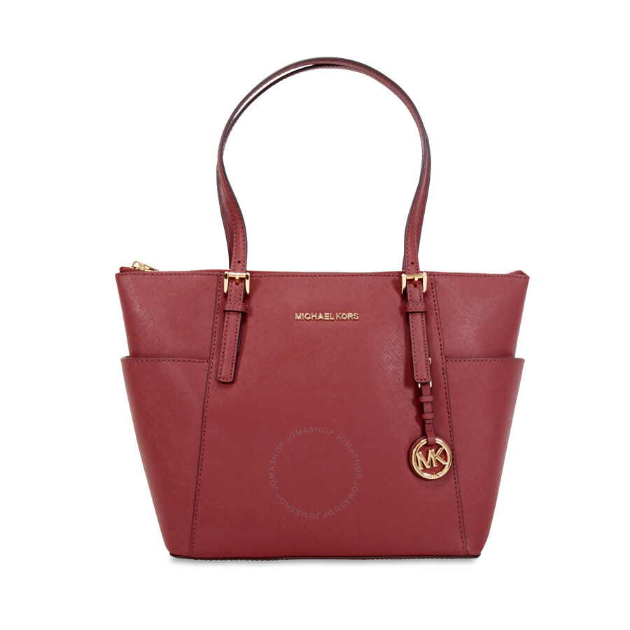 michael kors zip top jet set tote