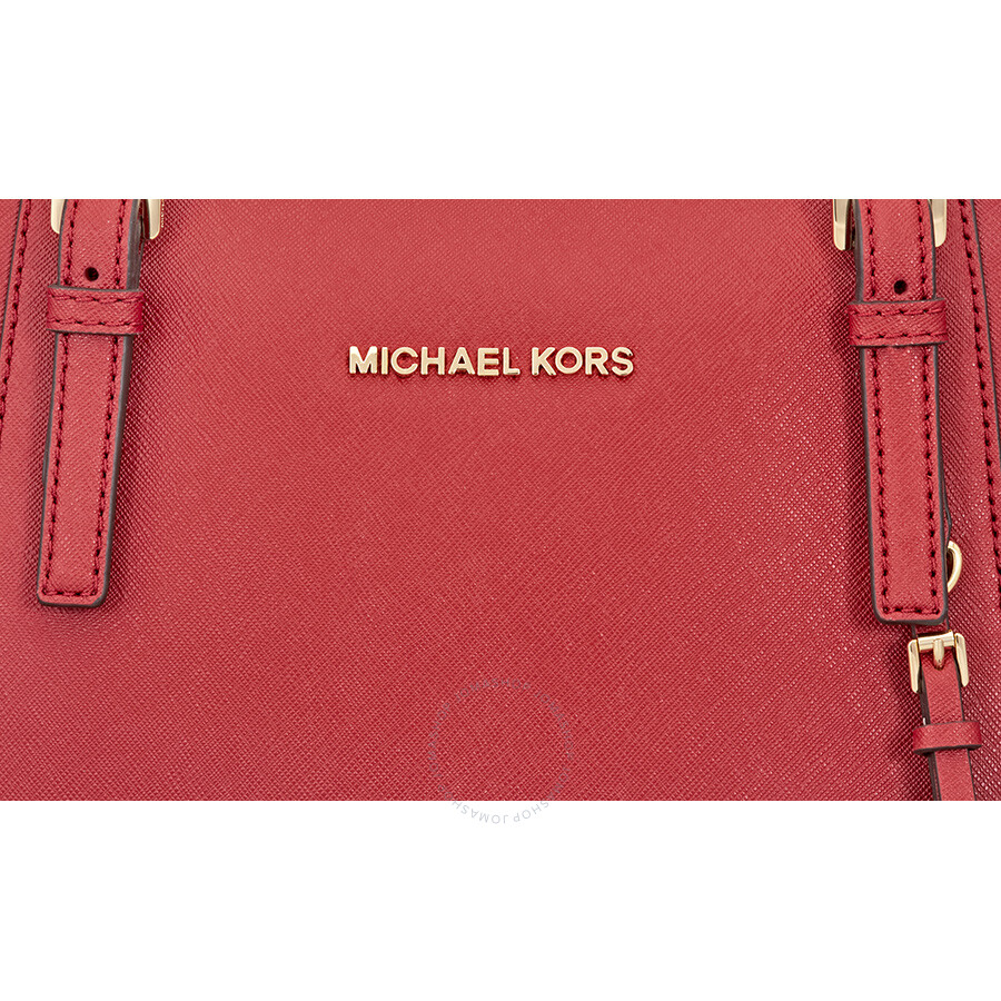 479f71cd13163 Michael Kors Jet Set Top-Zip Saffiano Leather Tote Burnt Red - Medium