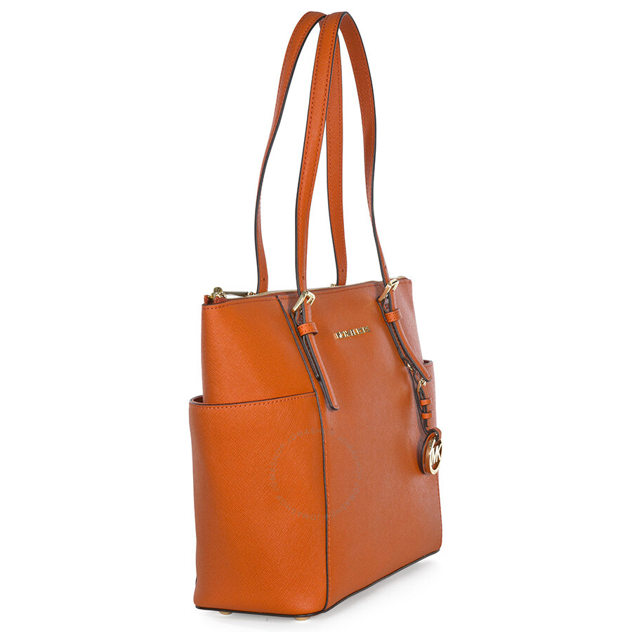c5dd3671242a9f Michael Kors Jet Set Top Zip Saffiano Tote - Orange - Jet Set ...