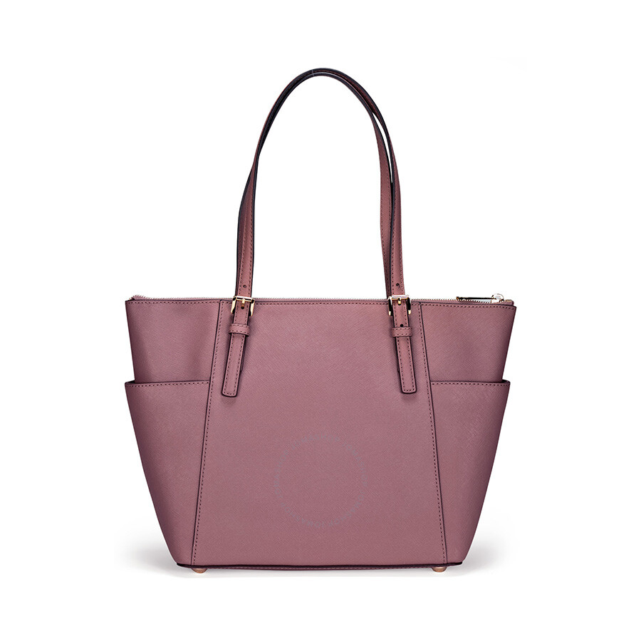 michael kors jet set top zip saffiano leather medium tote in dusty rose jet set michael kors. Black Bedroom Furniture Sets. Home Design Ideas