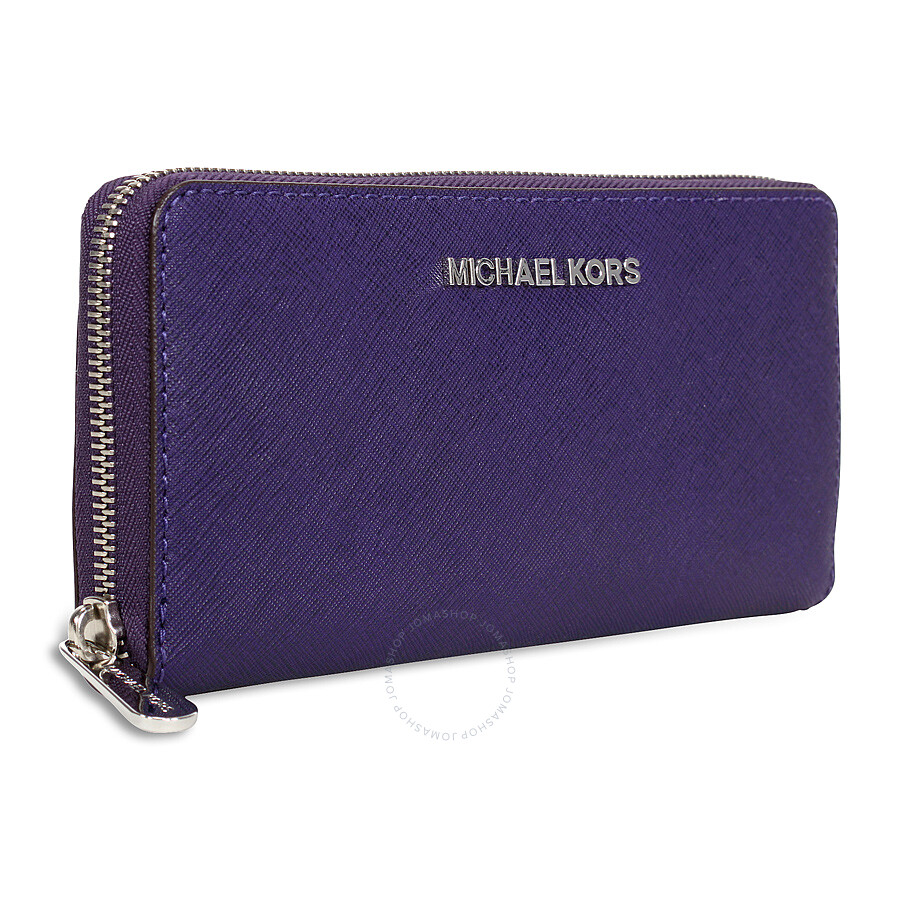 Michael Michael Kors Jet Set Travel Leather Continental Wallet: Michael Kors Jet Set Travel Continental Leather Wallet