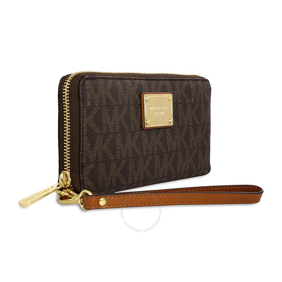 michael kors jet set travel continental pvc wallet brown jet set michael kors handbags. Black Bedroom Furniture Sets. Home Design Ideas