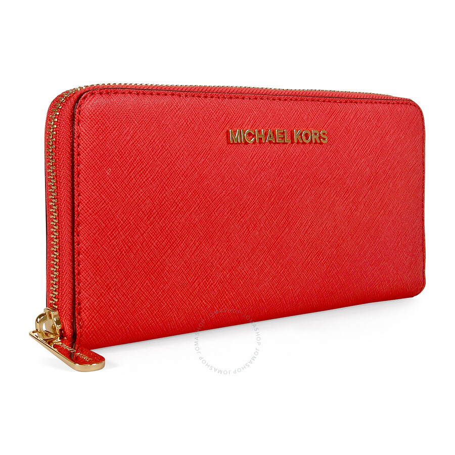 05850290908a Michael Kors Jet Set Travel Continental Wallet - Watermelon Item No.  32S3GTVE3L-596