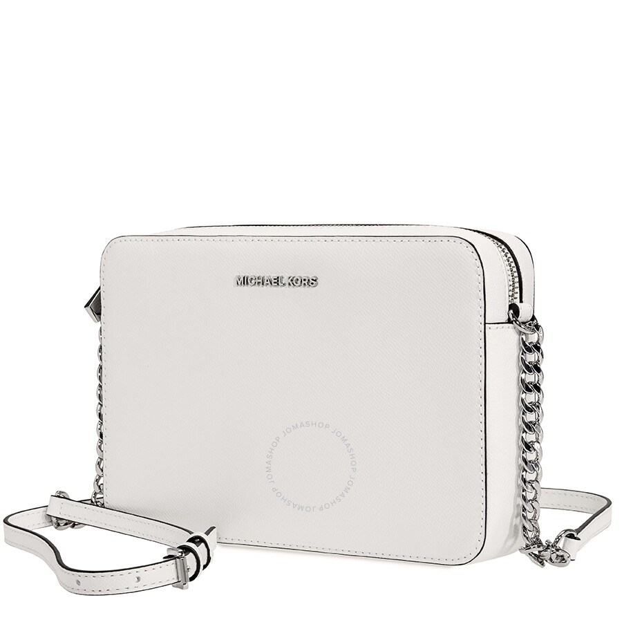 9a2cd2518e1673 Michael Kors Jet Set Travel Large Crossbody Bag- Optic White Item No.  32S4STVC3L-085