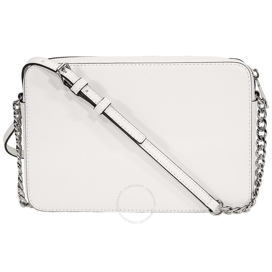 2b54f363b1a2 Michael Kors Jet Set Travel Large Crossbody Bag- Optic White - Jet ...
