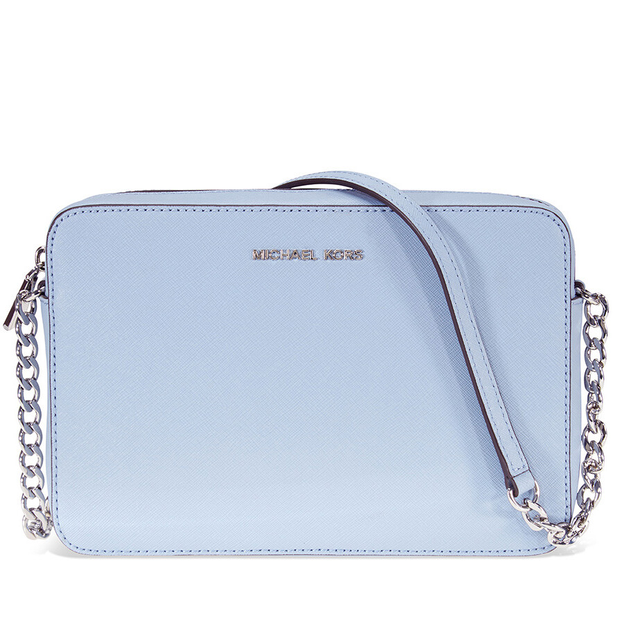 8d1ad9b4a09e61 Michael Kors Jet Set Travel Large Crossbody Bag- Pale Blue Item No.  32S4STVC3L-487