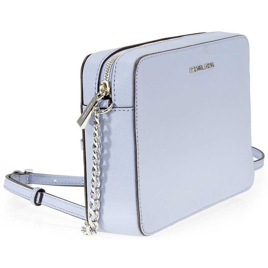 dade852900 Michael Kors Jet Set Travel Large Crossbody Bag- Pale Blue - Jet Set ...
