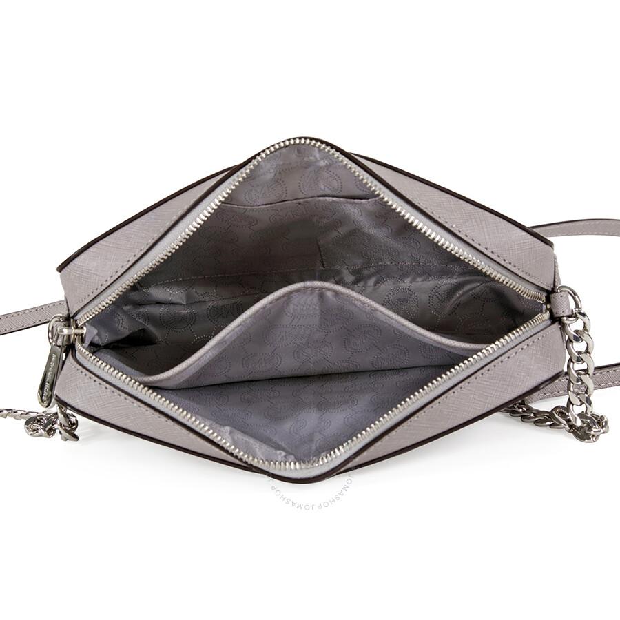 a5b95b5fd3da Michael Kors Jet Set Travel Large Crossbody Handbag - Pearl Grey ...