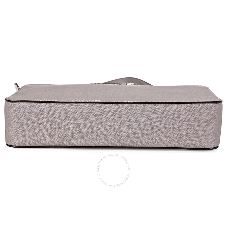8595b980ac4572 Michael Kors Jet Set Travel Large Crossbody Handbag - Pearl Grey ...