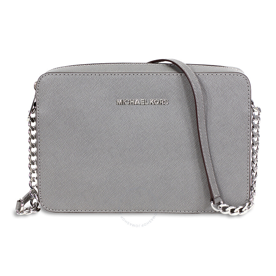 7c616ef5cfd28 Michael Kors Jet Set Travel Large Crossbody Handbag - Steel Grey ...