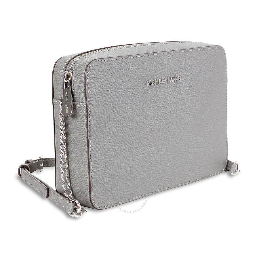 6c055ddbfdf5 Michael Kors Jet Set Travel Large Crossbody Handbag - Steel Grey ...