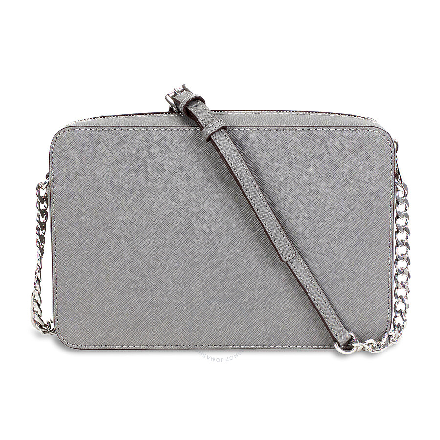 fa741c064afc Michael Kors Jet Set Travel Large Crossbody Handbag - Steel Grey ...