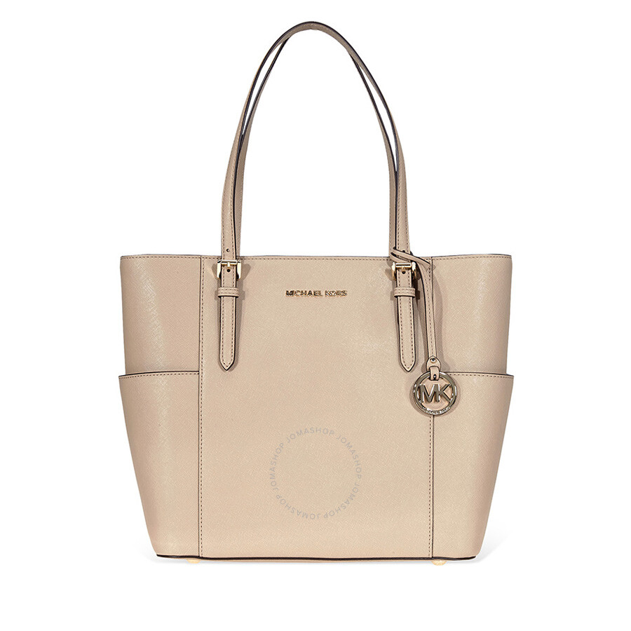 513b942acf34cb Michael Kors Jet Set Travel Large Leather Tote- Truffle Item No.  30T8TTVT3L-208