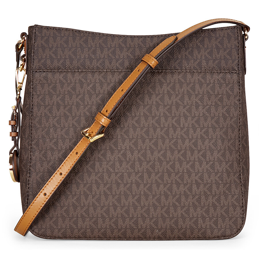 b72fb4746d06 Michael Kors Jet Set Travel Large Logo Messenger - Brown Item No.  30H6GTVM3V-200