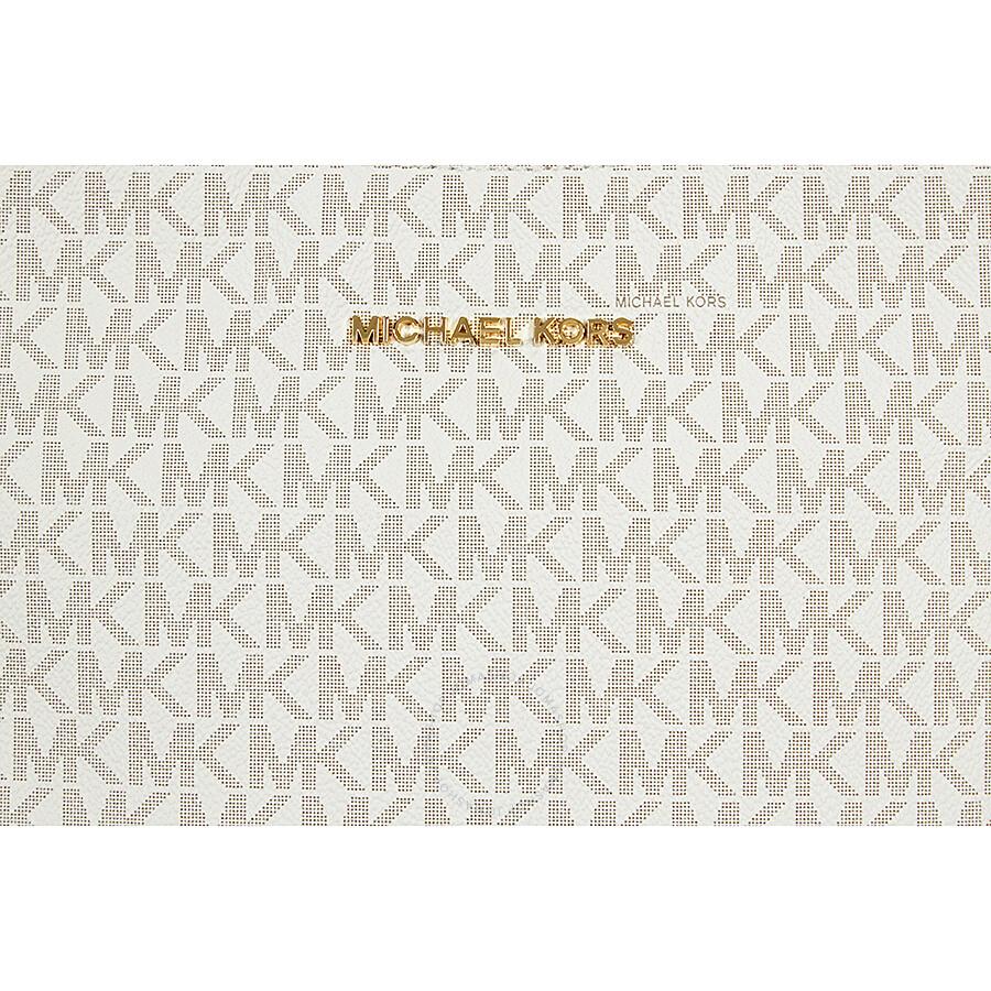 Michael Kors Jet Set Travel Large Logo Messenger - Vanilla ...