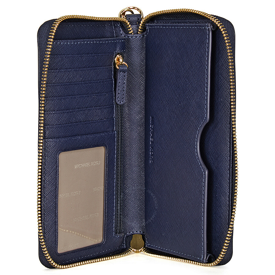 830c68199fd4 ... Michael Kors Jet Set Travel Large Smartphone Wristlet - Admiral