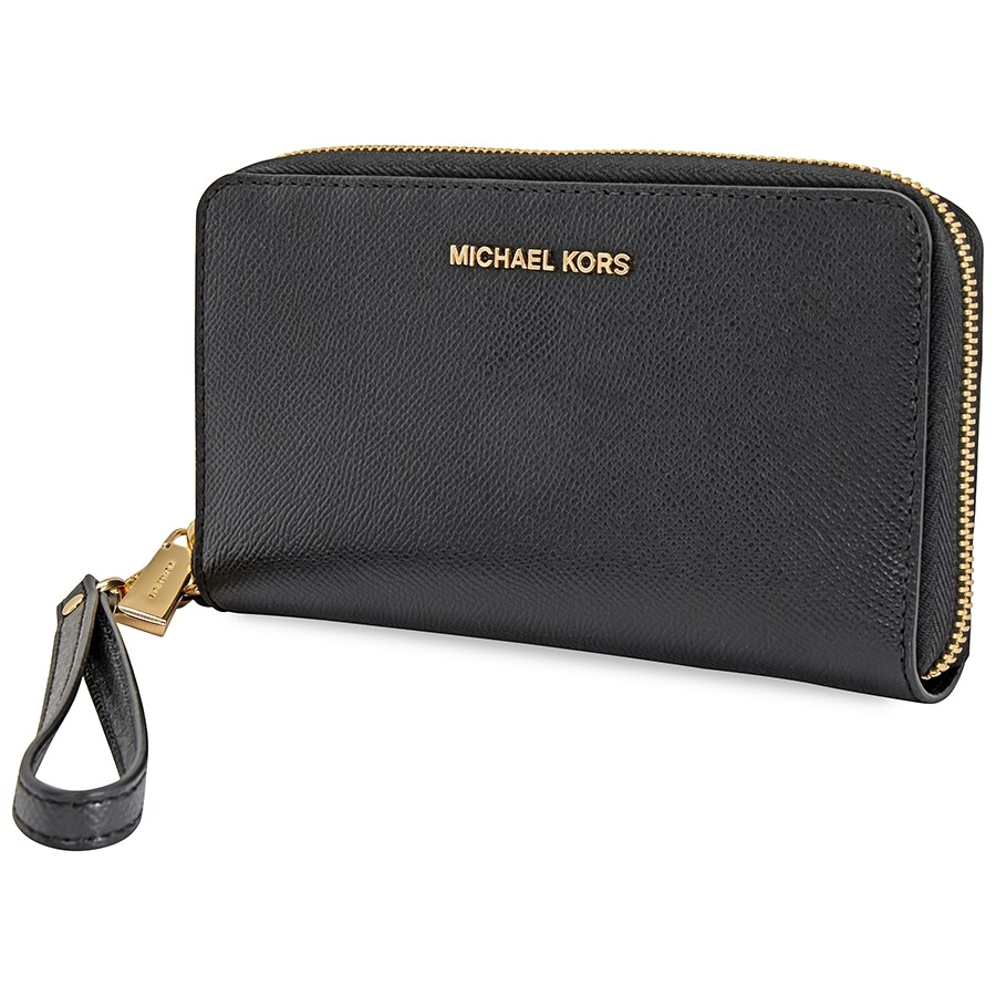 fa7746a3ce3f Michael Kors Jet Set Travel Large Smartphone Wristlet - Black Item No.  32H4GTVE9L-001